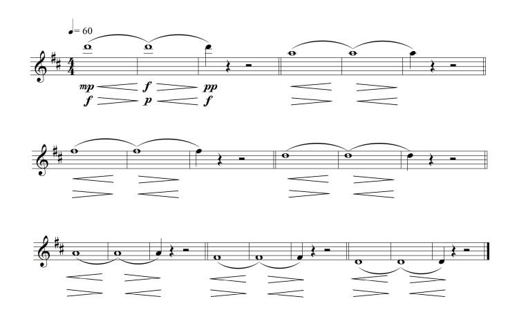 Fig. 4.7.- Notas filadas