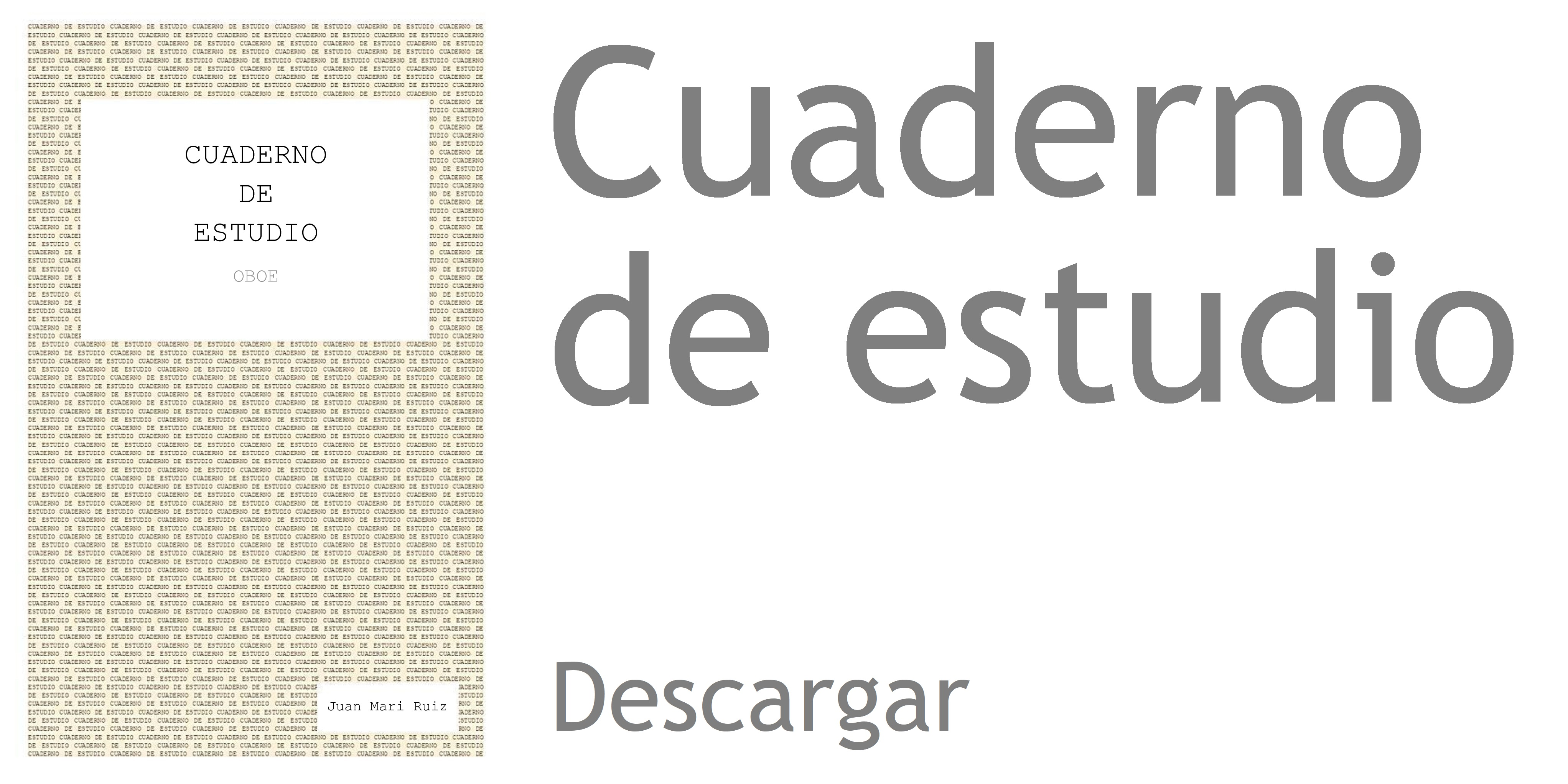 Publicaciones Juan Mari Ruiz Oboe Academy